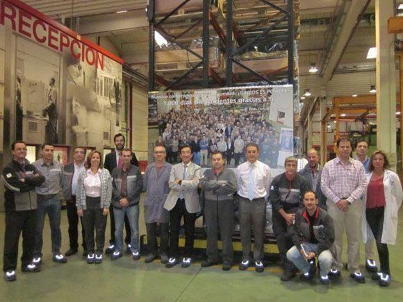 Schindler celebra 1000 días sin accidentes en su fábrica de Zaragoza