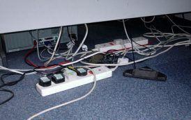 Foto de la semana: Instalación eléctrica en oficinas