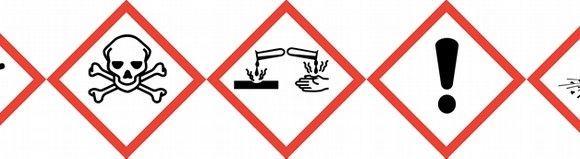 Pictogramas de peligro para sustancias químicas según el Reglamento (CE) nº 1272/2008