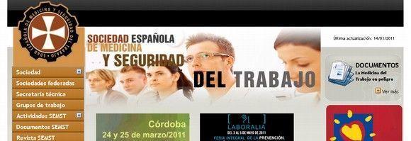 12 webs de sociedades españolas de Medicina del Trabajo