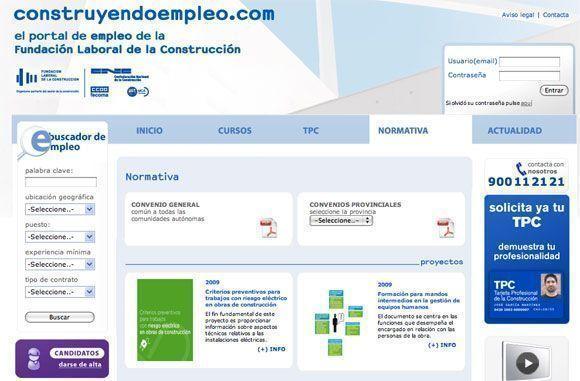 Nuevo portal de la Fundación Laboral de la Construcción