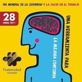 Cartel de Fraternidad Muprespa para conmemorar el Día Mundial de la Seguridad y Salud en el Trabajo