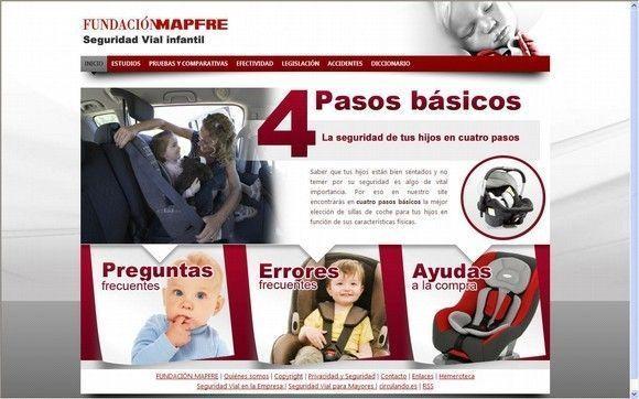 Fundacion Mapfre presenta una web especializada en sistemas de retención infantil