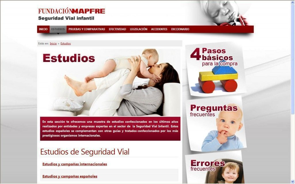 """Estudio """"Prioridad en España en la Seguridad de los niños ocupantes de Vehículos"""" – Conclusiones"""