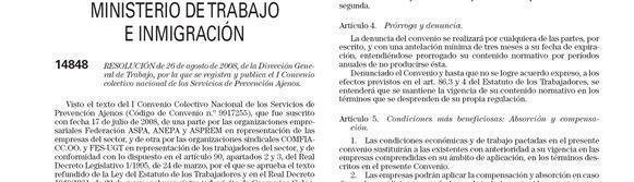 CCOO y UGT denuncian el Convenio Colectivo Nacional de los Servicios de Prevención Ajenos