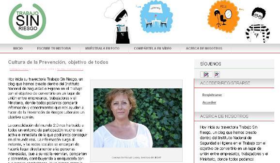 """Nace el nuevo blog del INSHT """" Trabajo sin riesgo"""""""