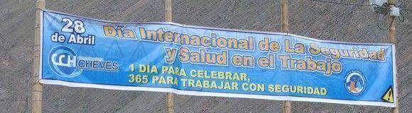 Así celebraron en Perú el Día Mundial de la Seguridad y Salud en el Trabajo