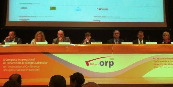 Da comienzo el X Congreso Internacional de Prevención de Riesgos Laborales ORP Bilbao 2012