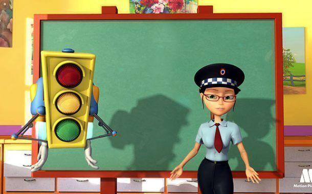 Luz Verde - Dibujos animados Seguridad Vial