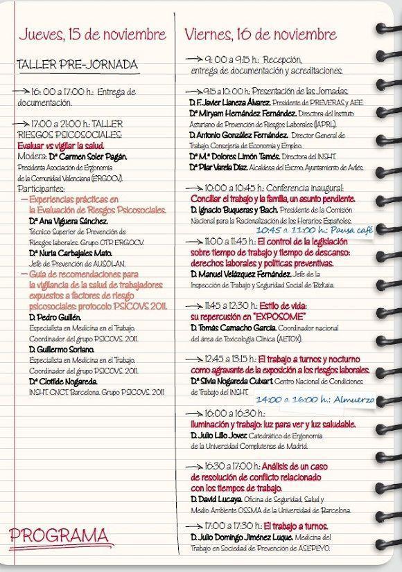 VIII Jornadas Nacionales de Ergonomía y Psicosociología: Tiempo, trabajo, productividad y salud