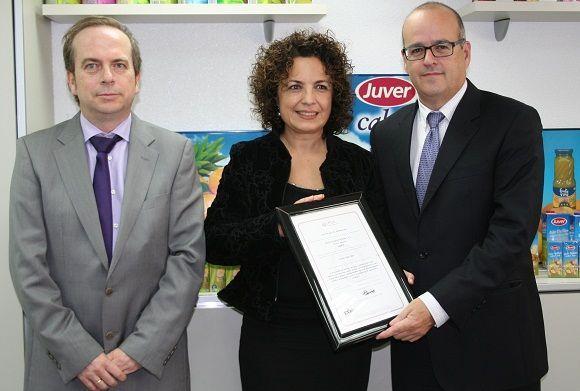 Juver alimentación recibe la certificación OHSAS 18001