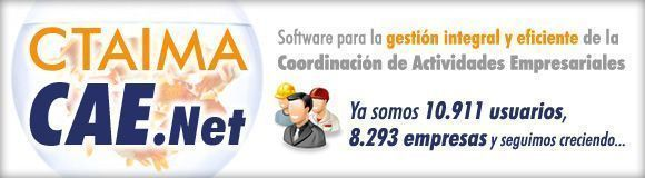Coordinación de actividades empresariales con CTAIMA CAE.Net