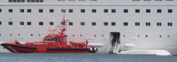Mueren cinco tripulantes de un crucero durante un simulacro