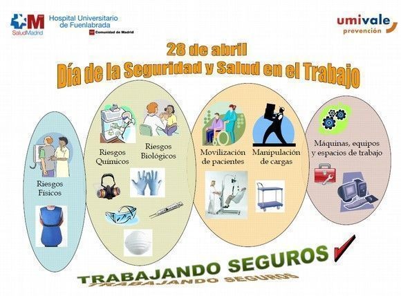 El Hospital de Fuenlabrada celebra el día internacional de la seguridad y salud en el trabajo #28PRL