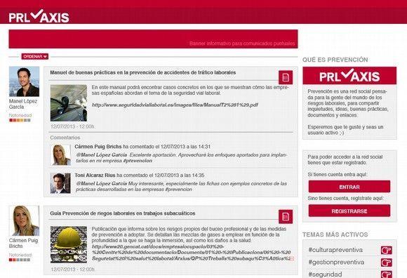 PRLaxis, la primera red social vertical dedicada a la prevención de riesgos laborales