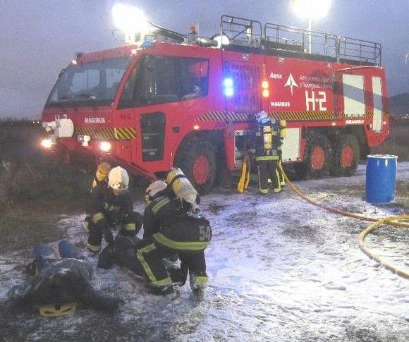 El Aeropuerto de Vitoria realiza un simulacro general de accidente aéreo