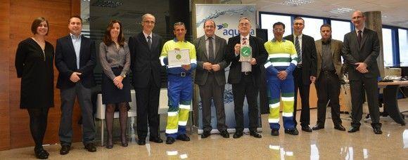 'Aqualia' el primer distintivo 'Empresa comprometida con la seguridad y la salud laboral'
