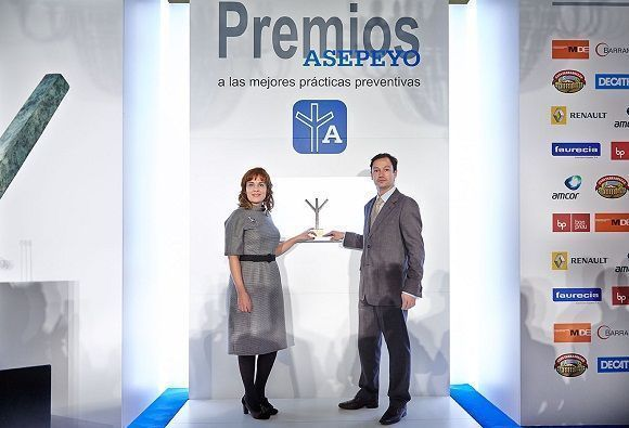 Mantenimiento de Estaciones, distinguida por Asepeyo por su gestión en prevención