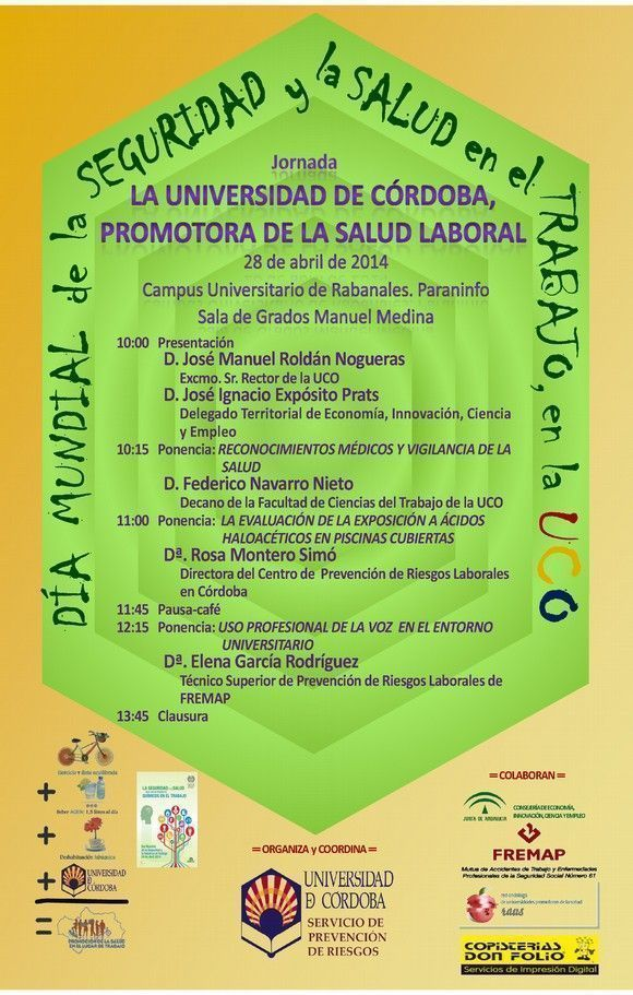 Jornada de seguridad y salud laboral en la UCO #28PRL