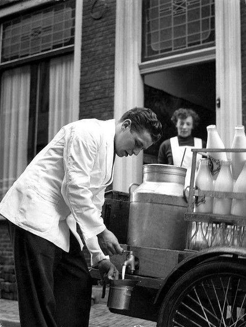 Lechero en Holanda 1956 visto en Flickr