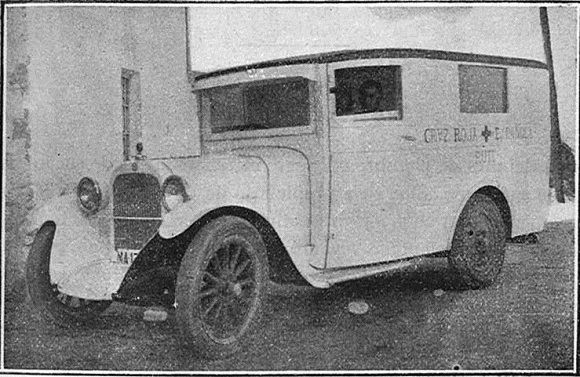 1929 Córdoba ambulancia de la cruz roja visto en Flickr