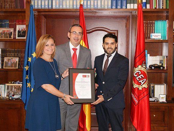 CEA logra la certificación 'UNE ISO 39001' sobre seguridad vial