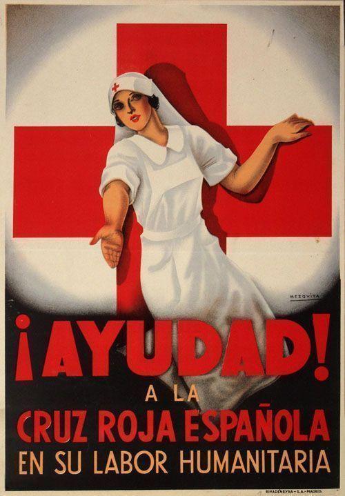 1937 cartel de la guerra civil visto en Pinterest