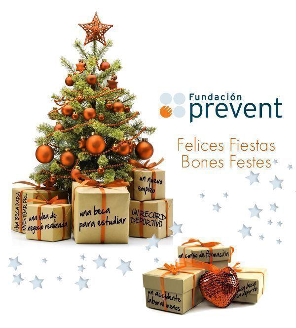 Fundación Prevent les desea Felices Fiestas