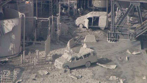 Explosión en una refinería petrolera