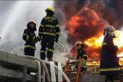 Explosión e incendio una fábrica química en China
