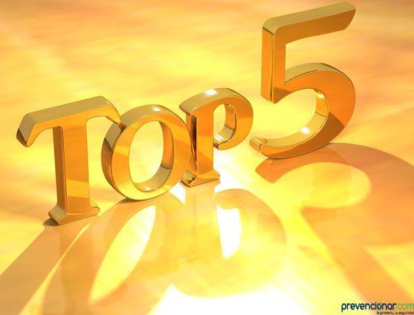 Las 5 noticias mas leídas en Prevencionar en el 2015