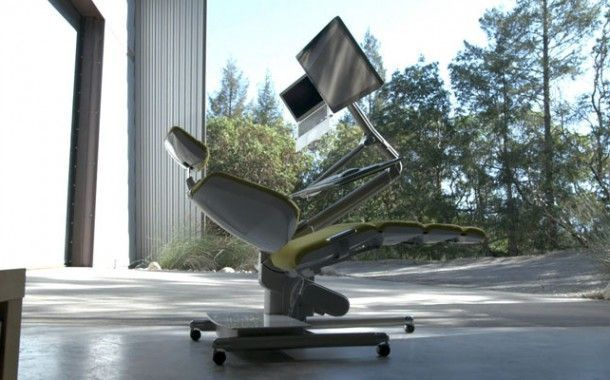 "Altwork Station, la ""silla"" que te permite trabajar tumbado"
