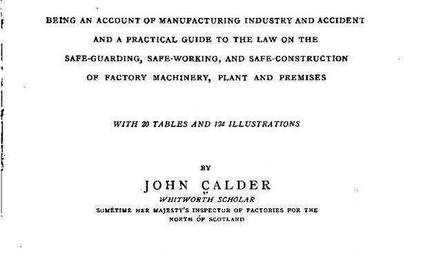 Manual de seguridad industrial publicado en 1899