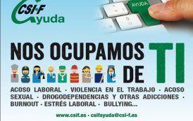 CSIFAyuda: Un equipo de expertos atenderá los casos de mobbing, acoso sexual, violencia y adicciones en las administraciones públicas