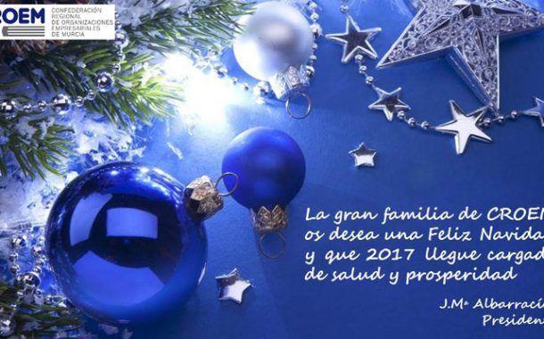 El Departamento de Prevención de Riesgos Laborales de CROEM os desea unas Felices Fiestas y un saludable y productivo 2017. ¡FELIZ NAVIDAD! ¡FELIZ 2017!