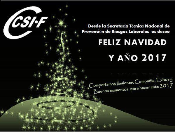 Desde la Secretaría Técnica Nacional de PRL os deseamos los mejores deseos de felicidad para estas fiestas navideñas y un próspero año nuevo 2017