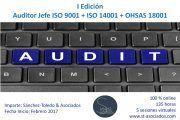 "Última semana de Matricula – Curso Auditor Jefe ""ISO 9001 + ISO 14001 + OHSAS 18001"""