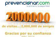 Prevencionar alcanza los 2 millones de visitas en el 2016. Gracias