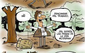 Humor: estrés tecnologico………