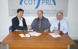 Acuerdo de colaboración entre el COTSPRLCV y Prevencionar