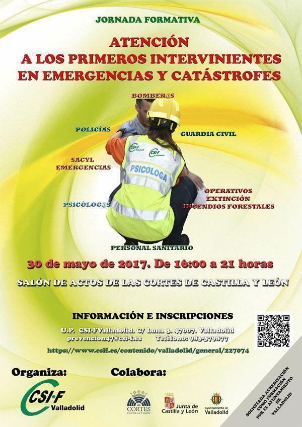 """Jornada sobre la """"Atención a los primeros intervinientes en emergencias y catástrofes"""""""