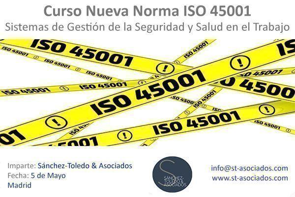 Curso Presencial Transición a la nueva Norma ISO 45001 – Madrid