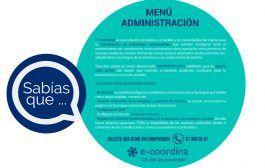 Sabías que … El menú Administración en Coordinación de Actividades Empresariales