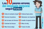 10 errores del lenguaje corporal