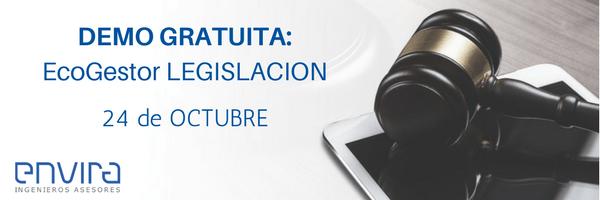 Live Demo: conoce EcoGestor Legislación