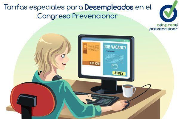 Tarifas especiales para Desempleados/as en el Congreso Prevencionar