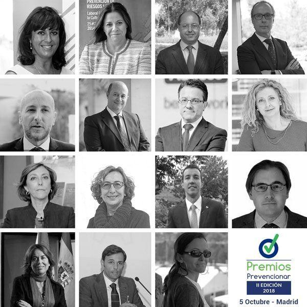 Ya se conocen los miembros del Jurado de los Premios Prevencionar 2018