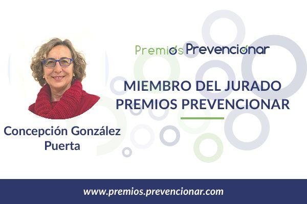 Concepción González Puerta miembro del Jurado de los Premios Prevencionar 2018