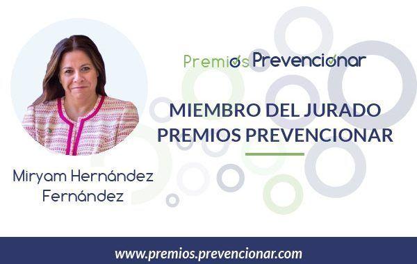 Miryam Hernández Fernández miembro del Jurado de los Premios Prevencionar 2018