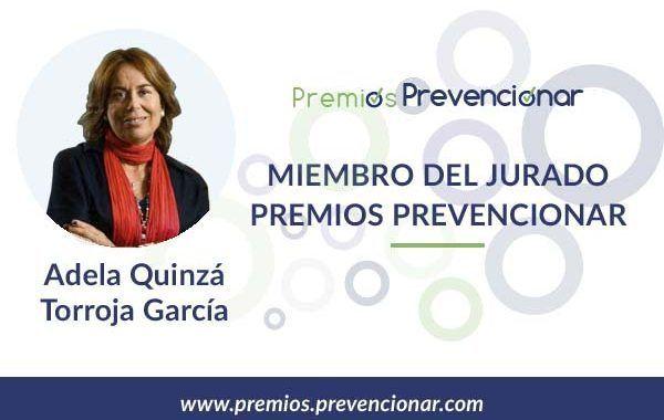 Adela Quinzá-Torroja García miembro del Jurado de los Premios Prevencionar 2018